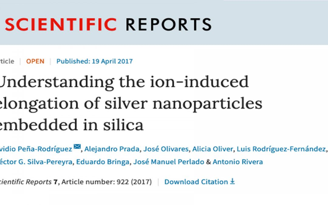 Published paper in Scientific Reports on the effects of ion irradiation over metal nanoparticles