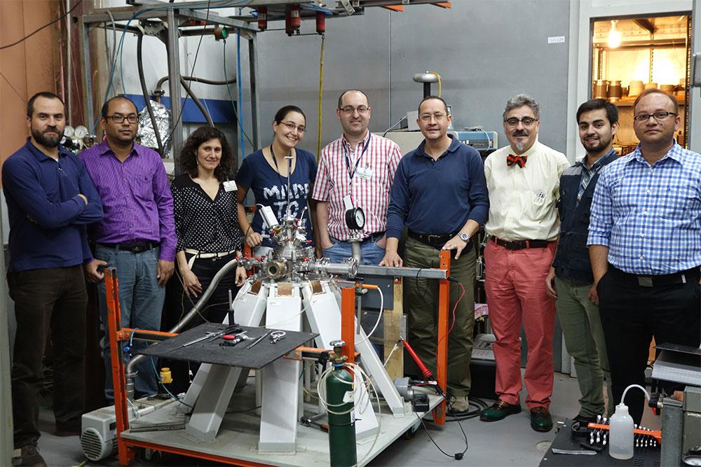 imagen 2 sobre la 1ª visita: realizacion de la primera campaña de irradiación